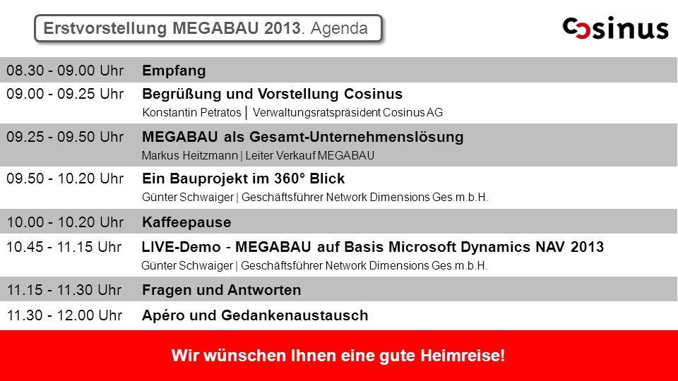 Erstvorstellung MEGABAU 2013.