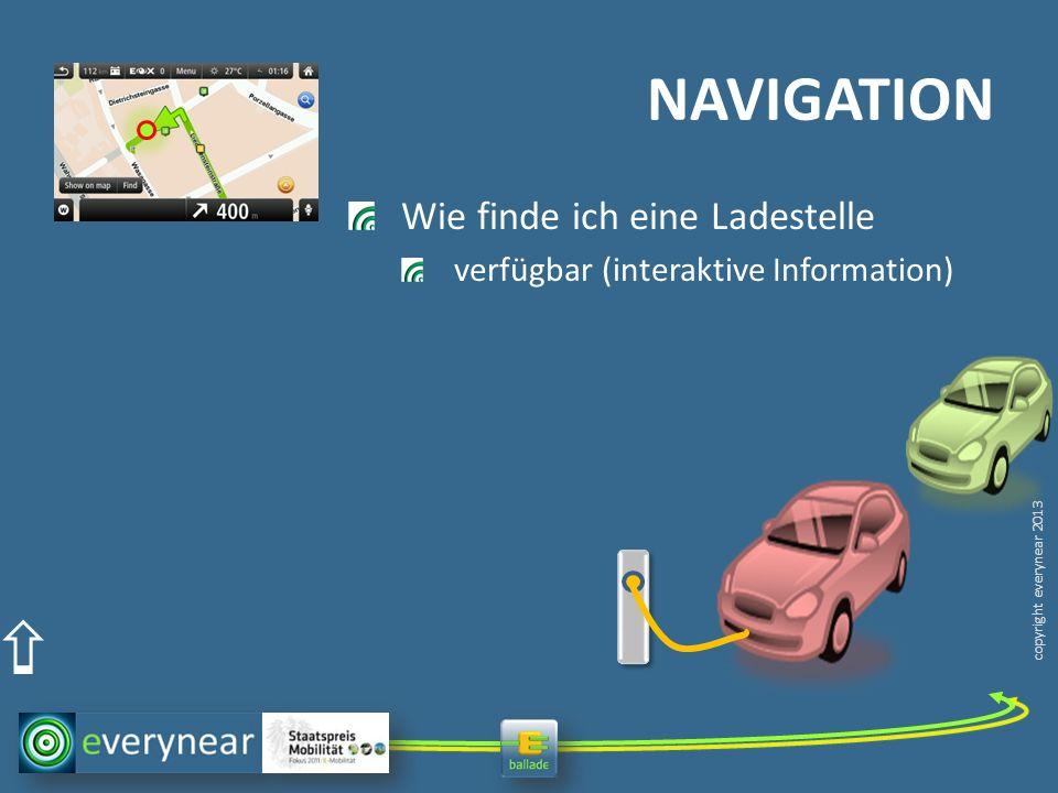 copyright everynear 2013 Wie finde ich eine Ladestelle verfügbar (interaktive Information) NAVIGATION