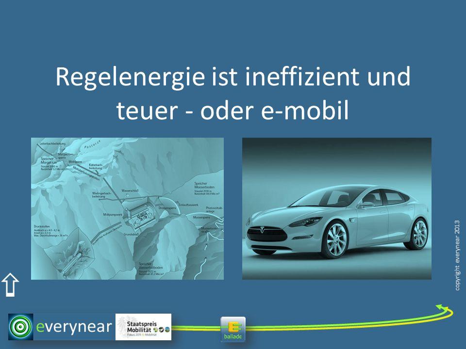 copyright everynear 2013 Regelenergie ist ineffizient und teuer - oder e-mobil