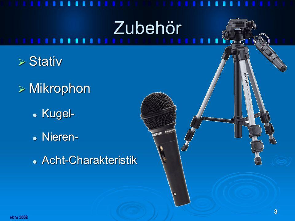 ebru 2008 3 Zubehör Stativ Stativ Mikrophon Mikrophon Kugel- Kugel- Nieren- Nieren- Acht-Charakteristik Acht-Charakteristik