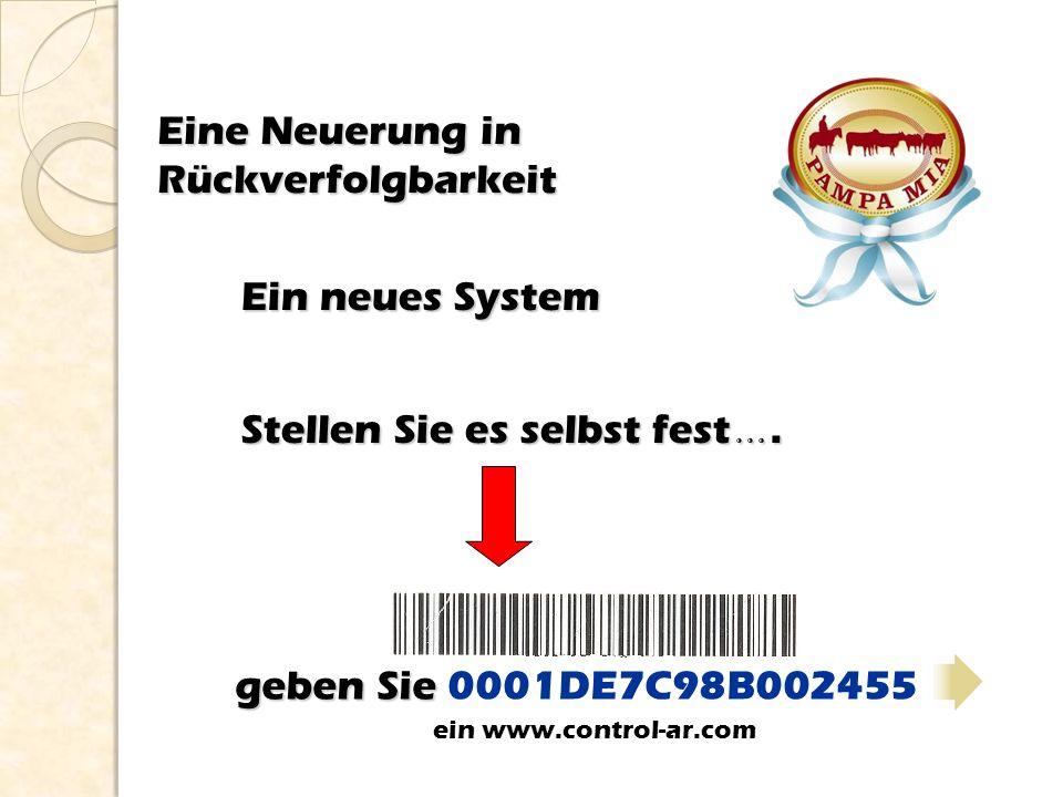 geben Sie geben Sie 0001DE7C98B002455 Eine Neuerung in Rückverfolgbarkeit Stellen Sie es selbst fest …. Ein neues System ein www.control-ar.com