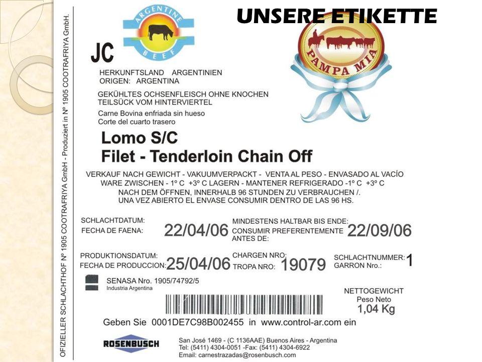 Fleisch mit zertifizierter Rückverfolgbarkeit Mit zertifizierter Qualität Dieses ist das Markenzeichen von dem Fleisch mit individueller Rückverfolgbarkeit Mit zertifizierter Sanität Natürliches Produkt