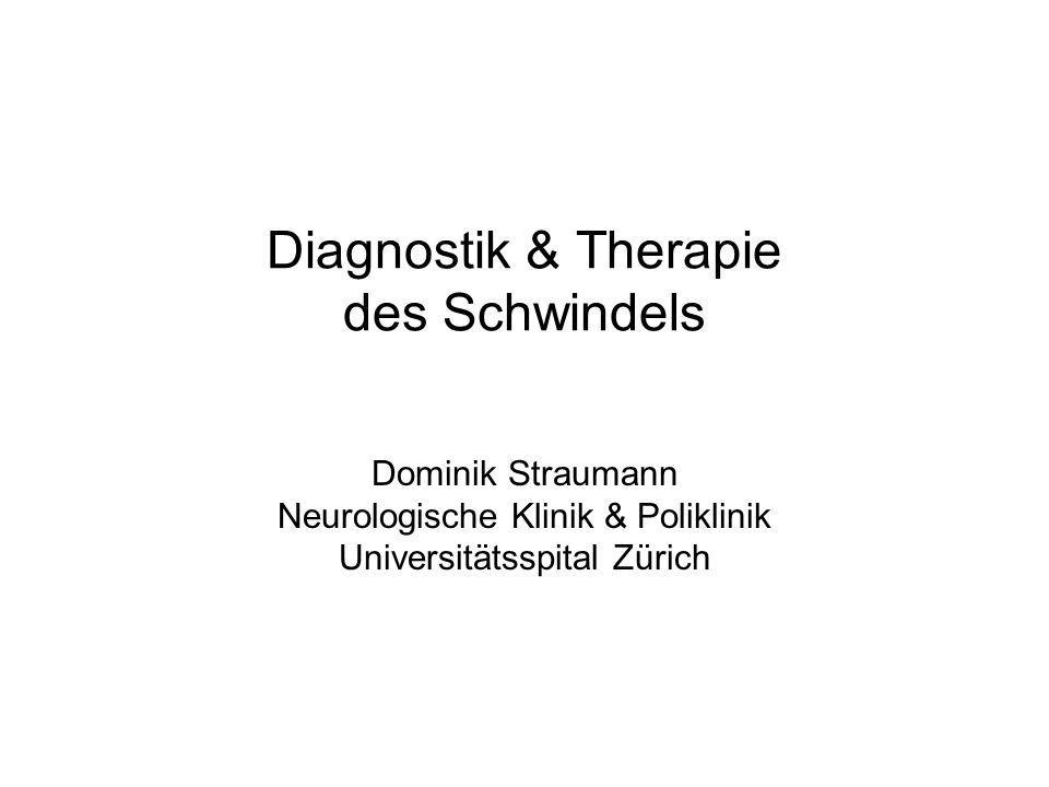 Diagnostik & Therapie des Schwindels Dominik Straumann Neurologische Klinik & Poliklinik Universitätsspital Zürich