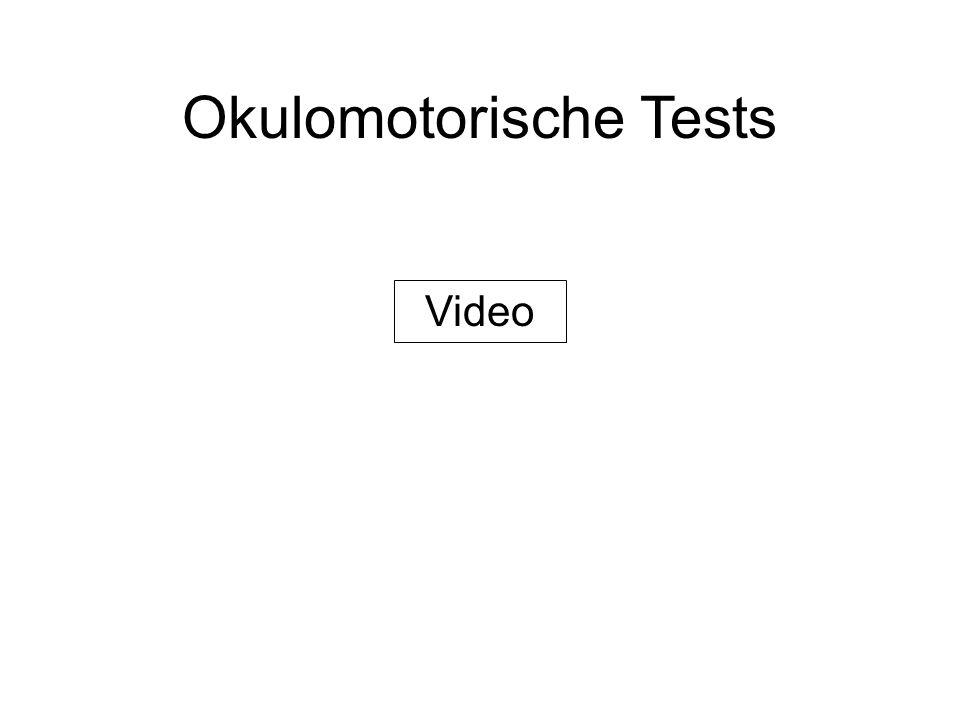 Okulomotorische Tests Video