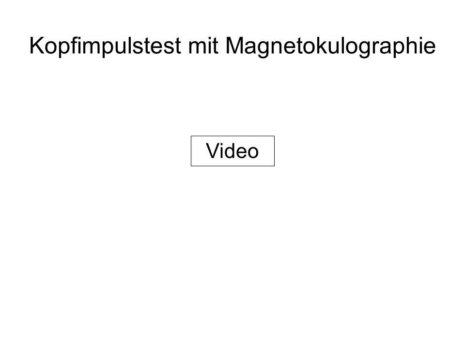 Kopfimpulstest mit Magnetokulographie Video
