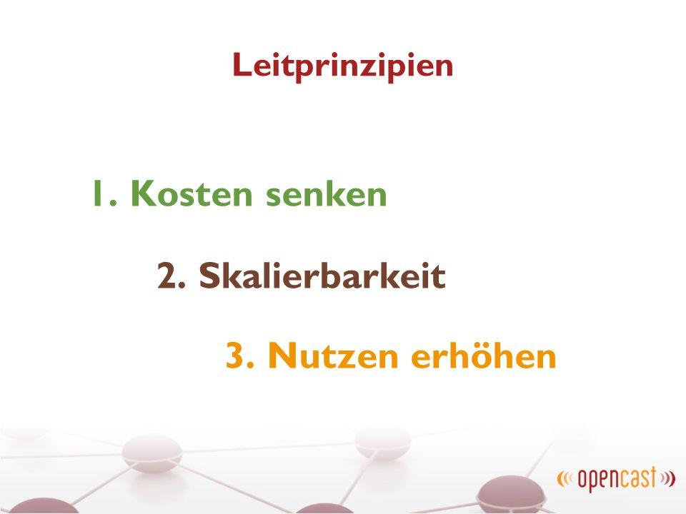 Leitprinzipien 1. Kosten senken 2. Skalierbarkeit 3. Nutzen erhöhen