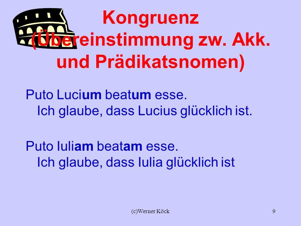 (c)Werner Köck8 Das Zeitverhältnis im ACI Video patrem venturum esse.