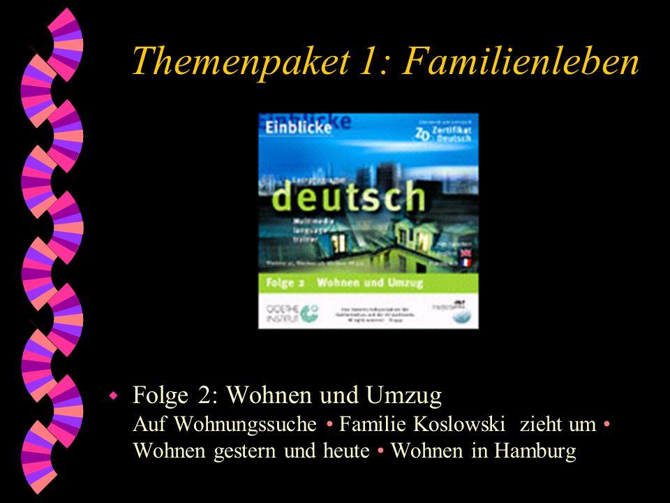 Themenpaket 1: Familienleben w Folge 2: Wohnen und Umzug Auf Wohnungssuche Familie Koslowski zieht um Wohnen gestern und heute Wohnen in Hamburg