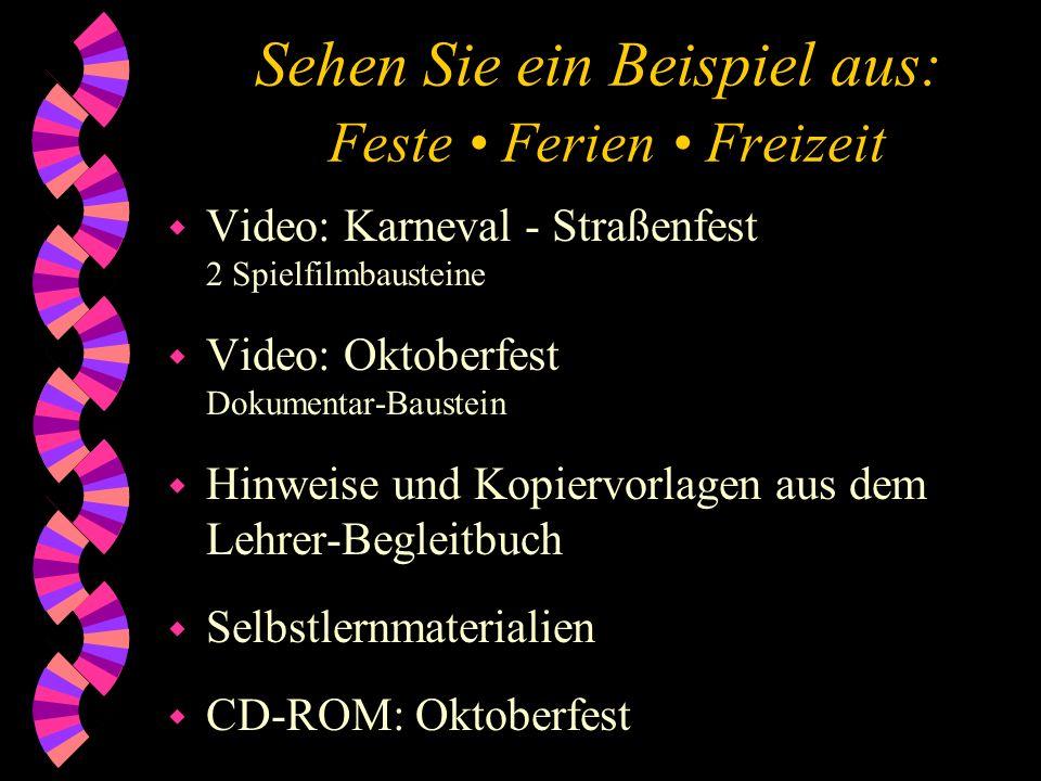 Sehen Sie ein Beispiel aus: Feste Ferien Freizeit w Video: Karneval - Straßenfest 2 Spielfilmbausteine w Video: Oktoberfest Dokumentar-Baustein w Hinw