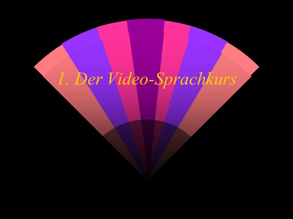 Komponenten: w 4 Video- Kassetten w 1 Lehrer- Begleitbuch w 1 Dialogbuch w 6 Begleithefte für Selbstlerner w 4 Hör-Kassetten