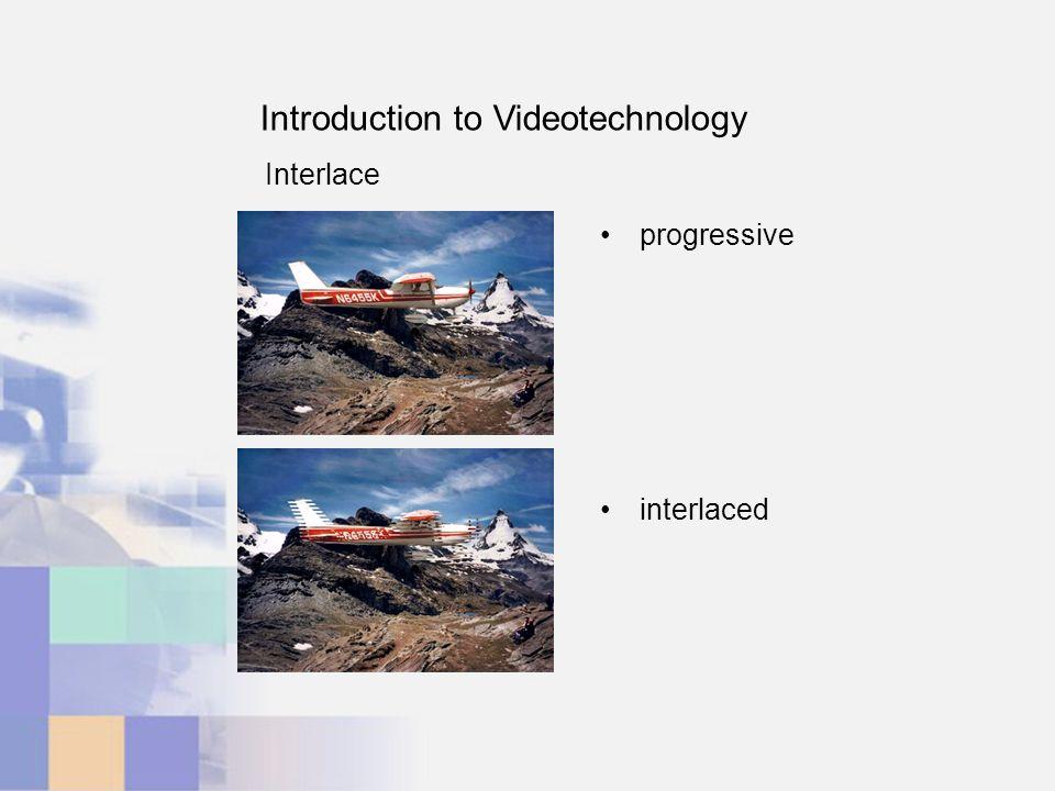 Introduction to Videotechnology Interlace progressive interlaced
