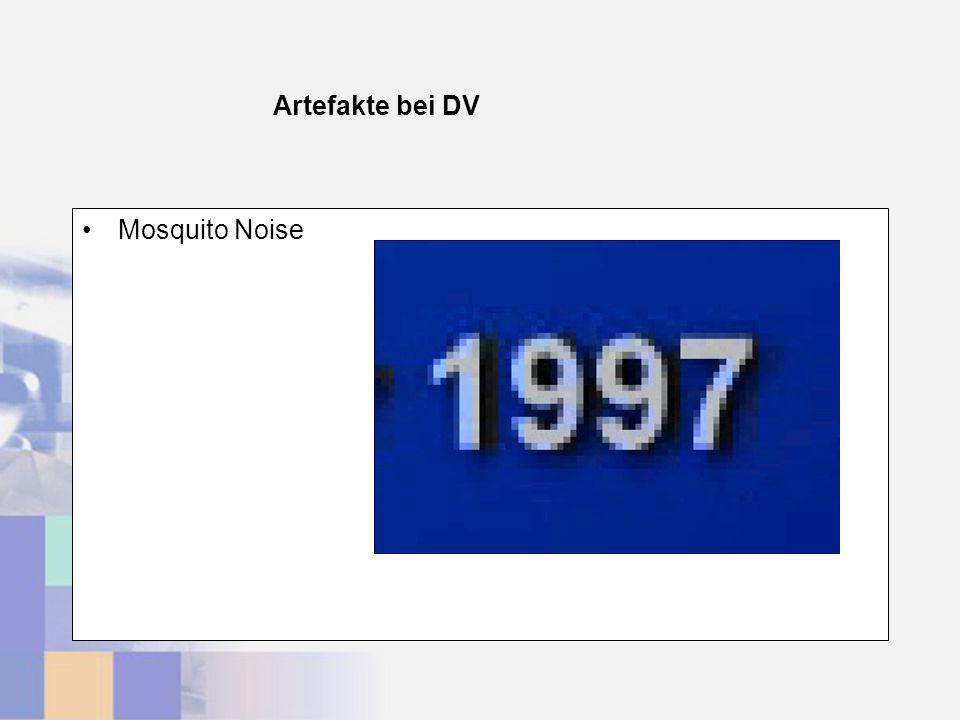 Artefakte bei DV Mosquito Noise