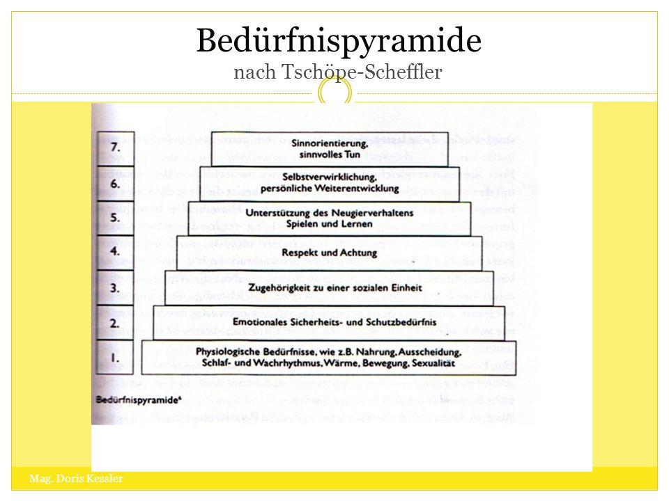 Bedürfnispyramide nach Tschöpe-Scheffler Mag. Doris Kessler