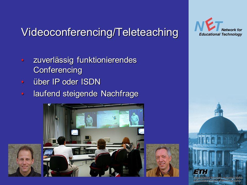 Videoconferencing/Teleteaching zuverlässig funktionierendes Conferencing zuverlässig funktionierendes Conferencing über IP oder ISDN über IP oder ISDN laufend steigende Nachfrage laufend steigende Nachfrage
