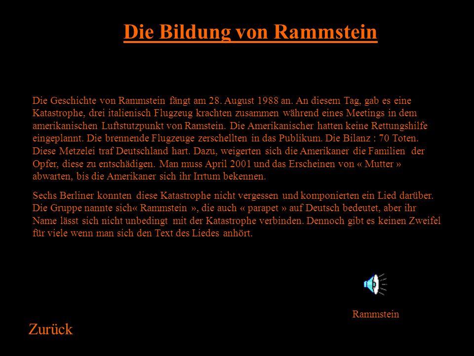 Rammstein und das Schauspiel Zurück Entweder Mexikaner oder Koch, die Gruppe Rammstein ist ein König vor der Regie. Ein Schauspiel von Rammstein ist i