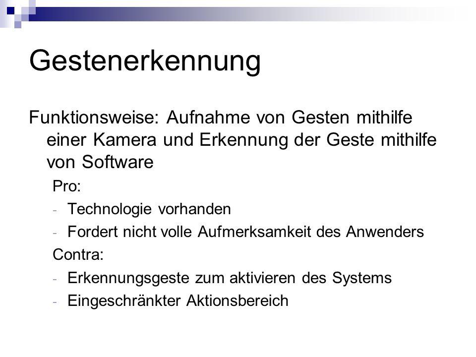 Passive Interfaces II Schwierig zu implementieren Ablauf: