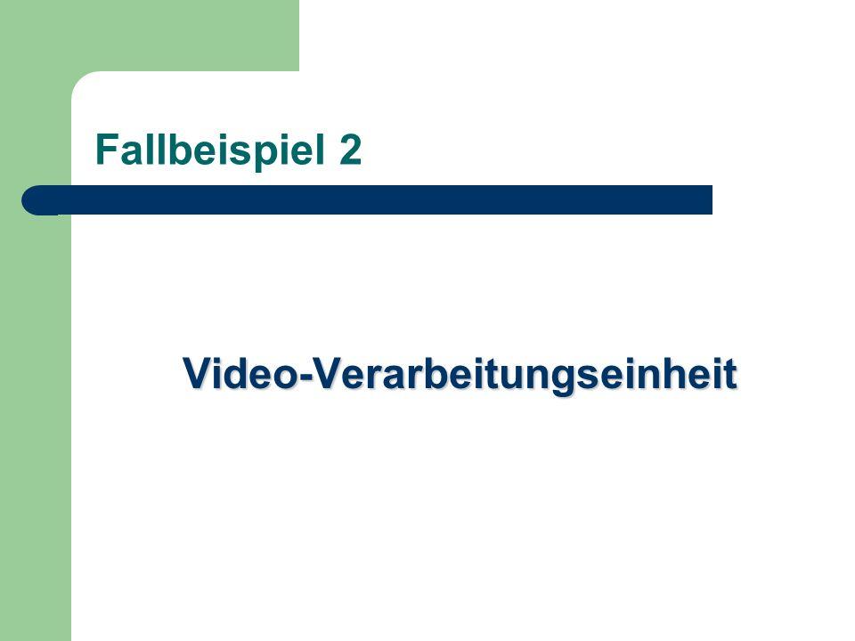 Fallbeispiel 2 Video-Verarbeitungseinheit