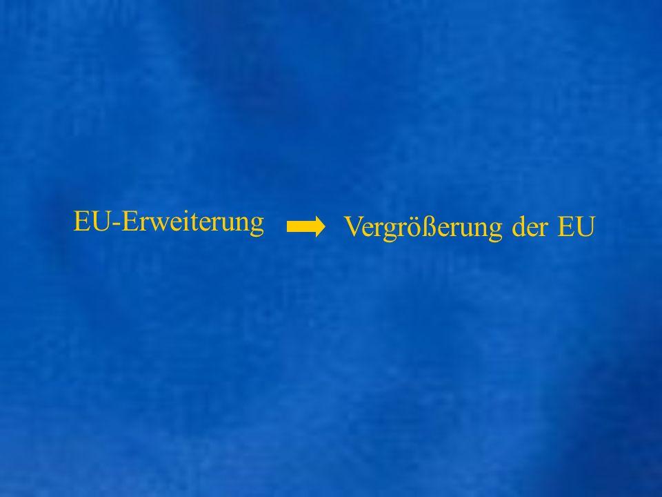 EU-Erweiterung Vergrößerung der EU