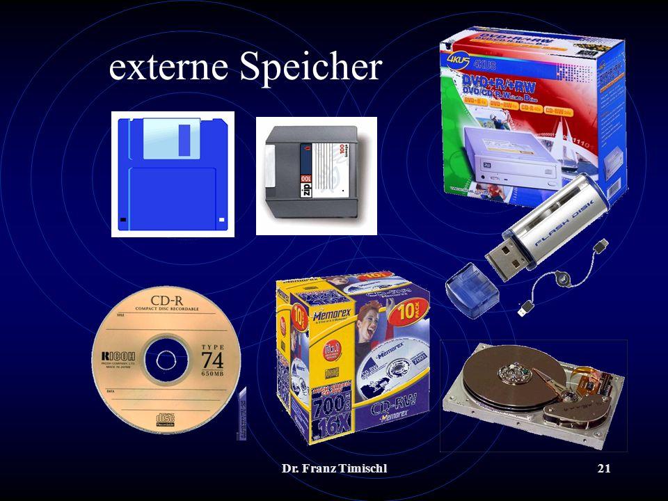Dr. Franz Timischl21 externe Speicher