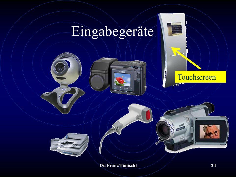 Dr. Franz Timischl24 Eingabegeräte 2 Touchscreen