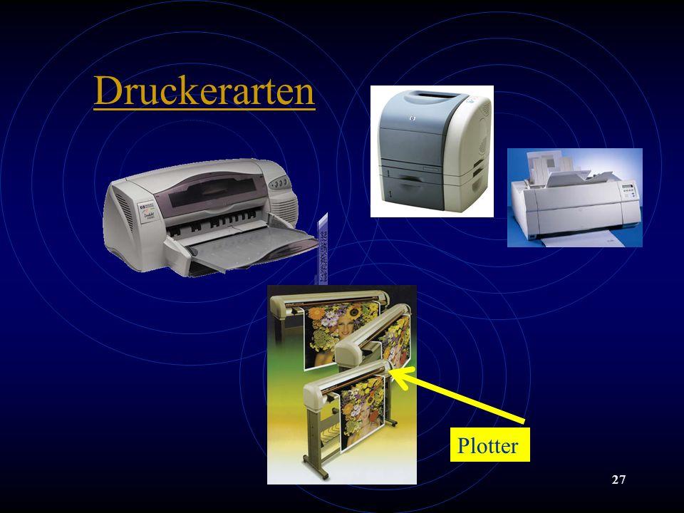 Dr. Franz Timischl27 Druckerarten Plotter
