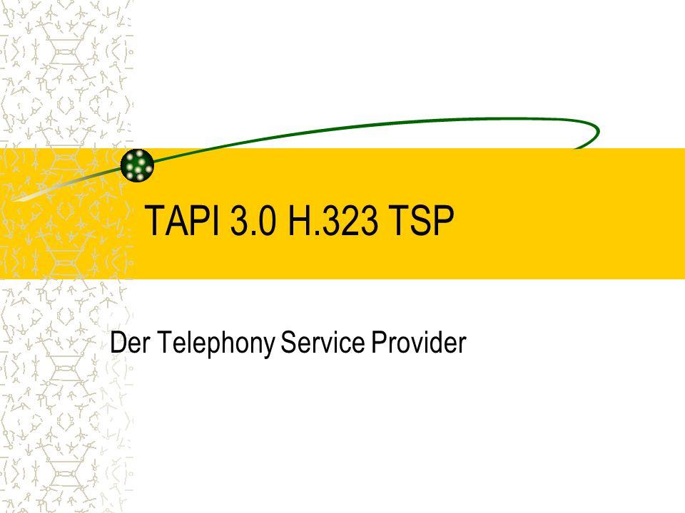TAPI 3.0 H.323 TSP Der Telephony Service Provider