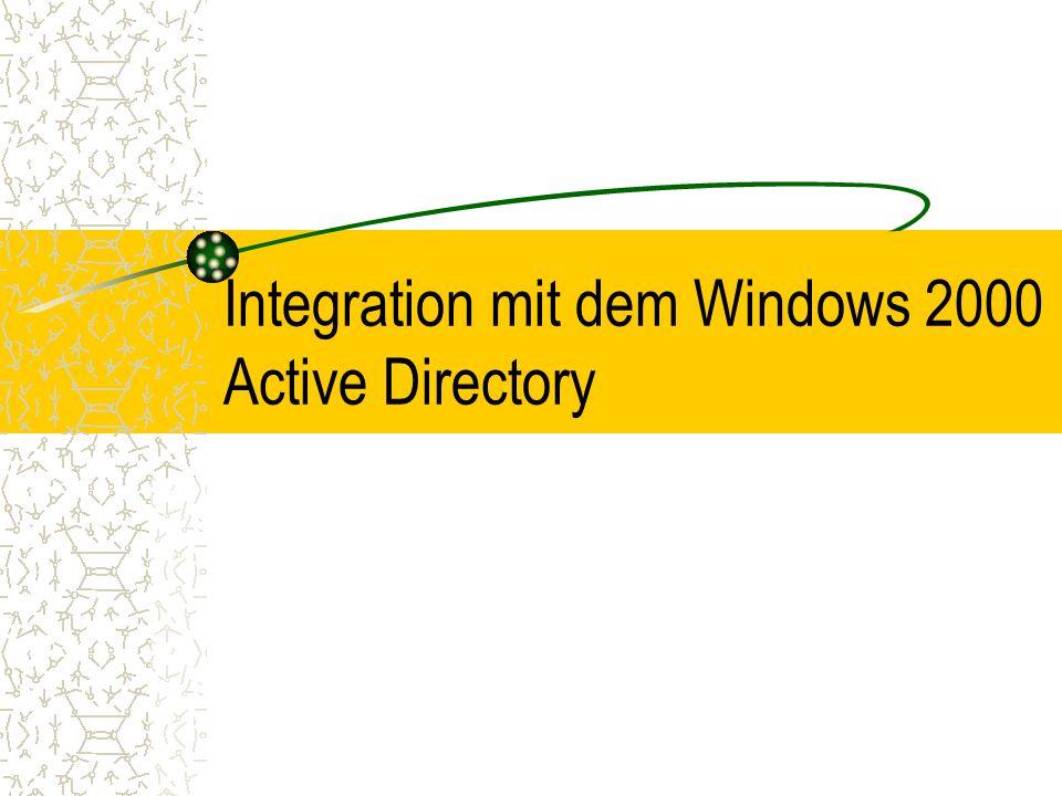 Integration mit dem Windows 2000 Active Directory