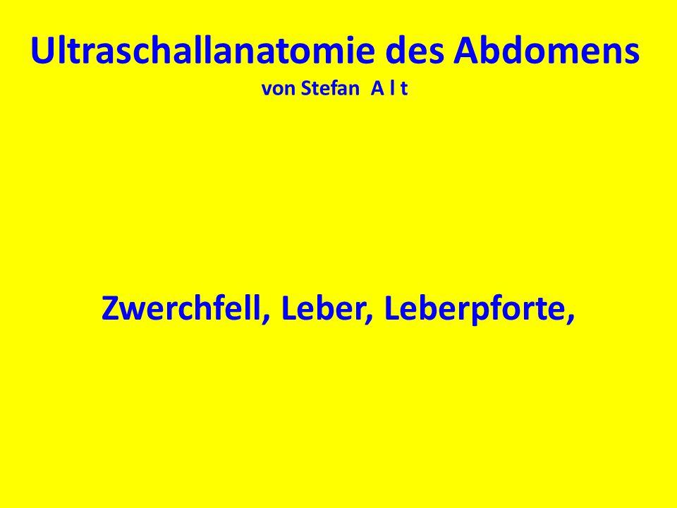 Ultraschallanatomie des Abdomens von Stefan A l t Zwerchfell, Leber, Leberpforte,