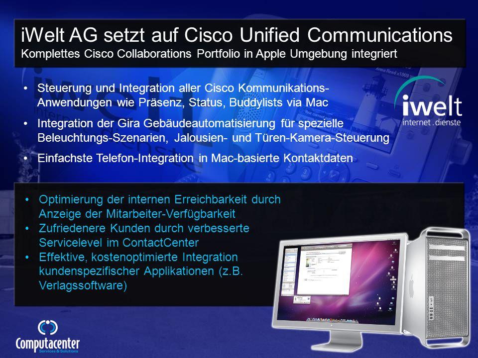 © 2009 Cisco Systems, Inc. All rights reserved.Cisco ConfidentialPresentation_ID 55 Steuerung und Integration aller Cisco Kommunikations- Anwendungen