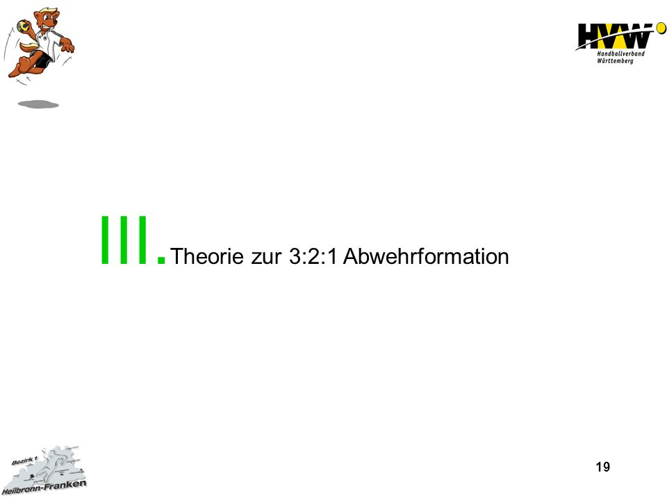 19 III. Theorie zur 3:2:1 Abwehrformation