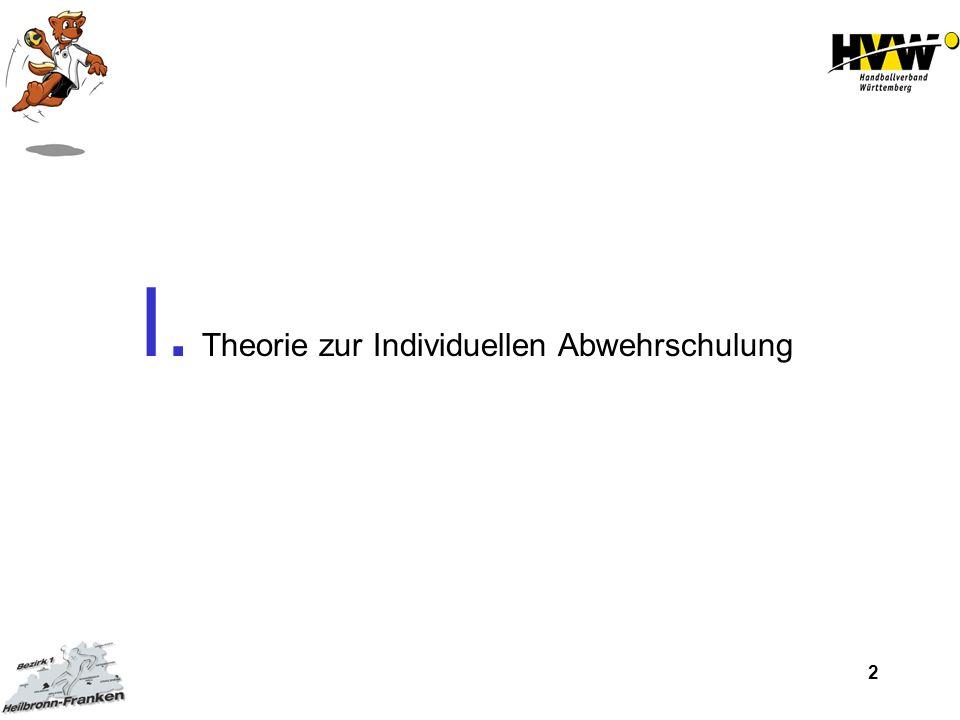 2 I. Theorie zur Individuellen Abwehrschulung