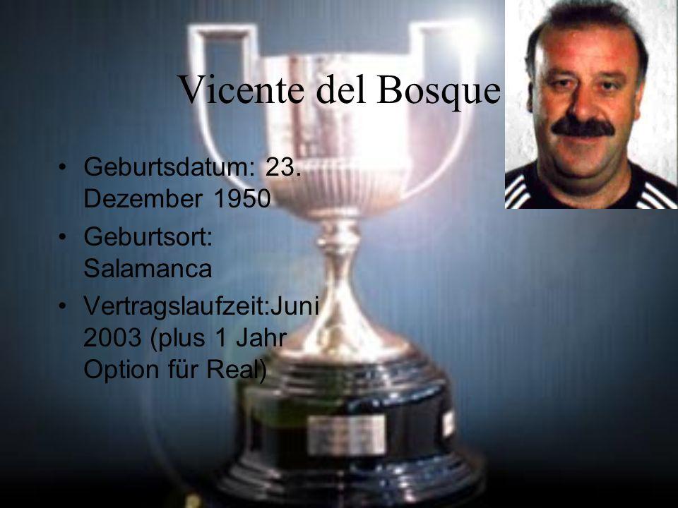 Vicente del Bosque Geburtsdatum: 23.