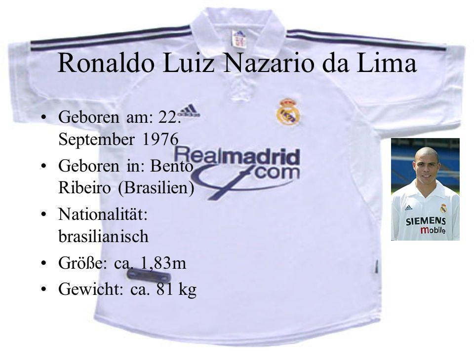 Ronaldo Luiz Nazario da Lima Geboren am: 22.