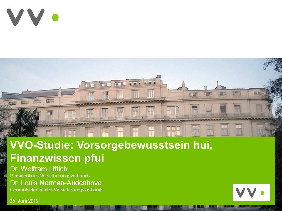 1 VVO-Studie: Vorsorgebewusstsein hui, Finanzwissen pfui Dr.