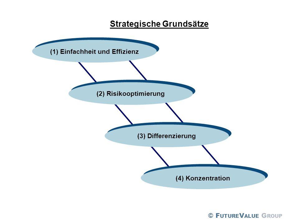 Strategische Grundsätze (2) Risikooptimierung (1) Einfachheit und Effizienz (3) Differenzierung (4) Konzentration © F UTURE V ALUE G ROUP