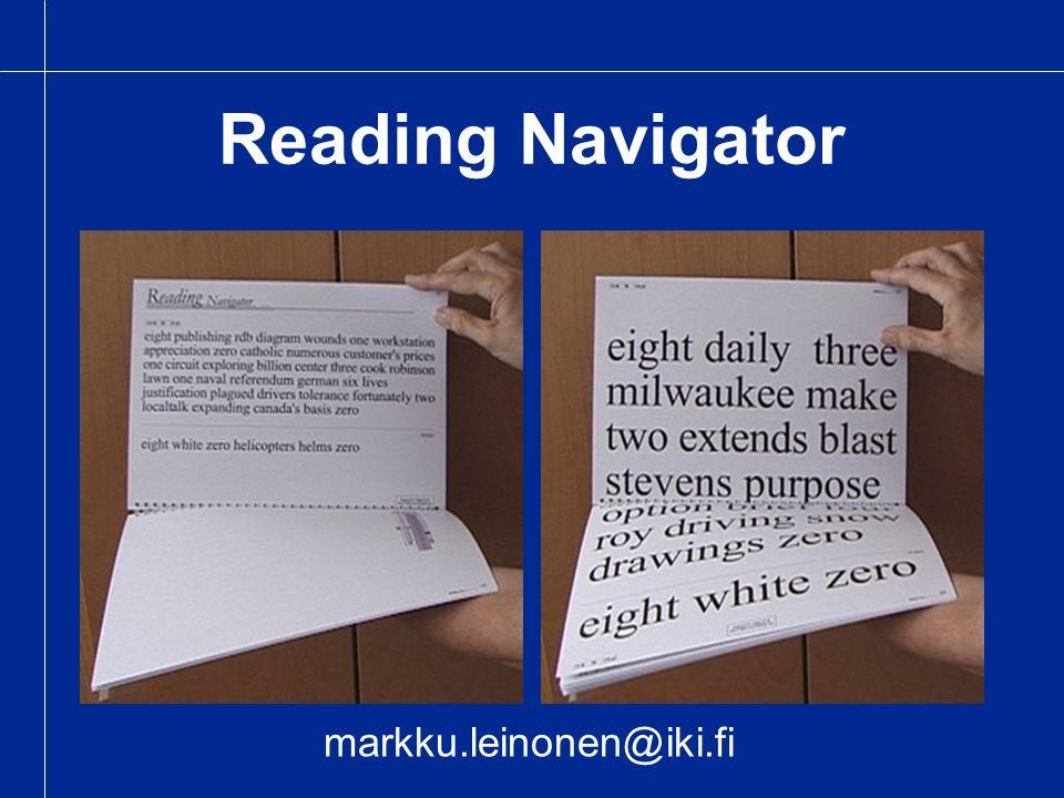 Reading Navigator markku.leinonen@iki.fi