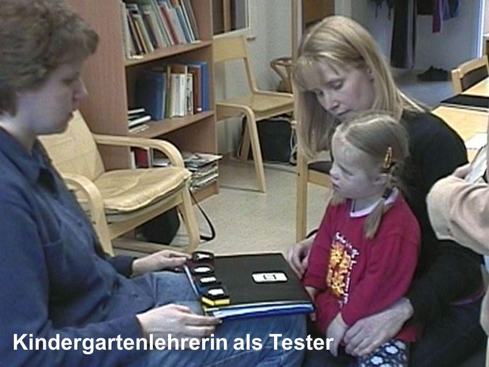 Kindergartenlehrerin als Tester