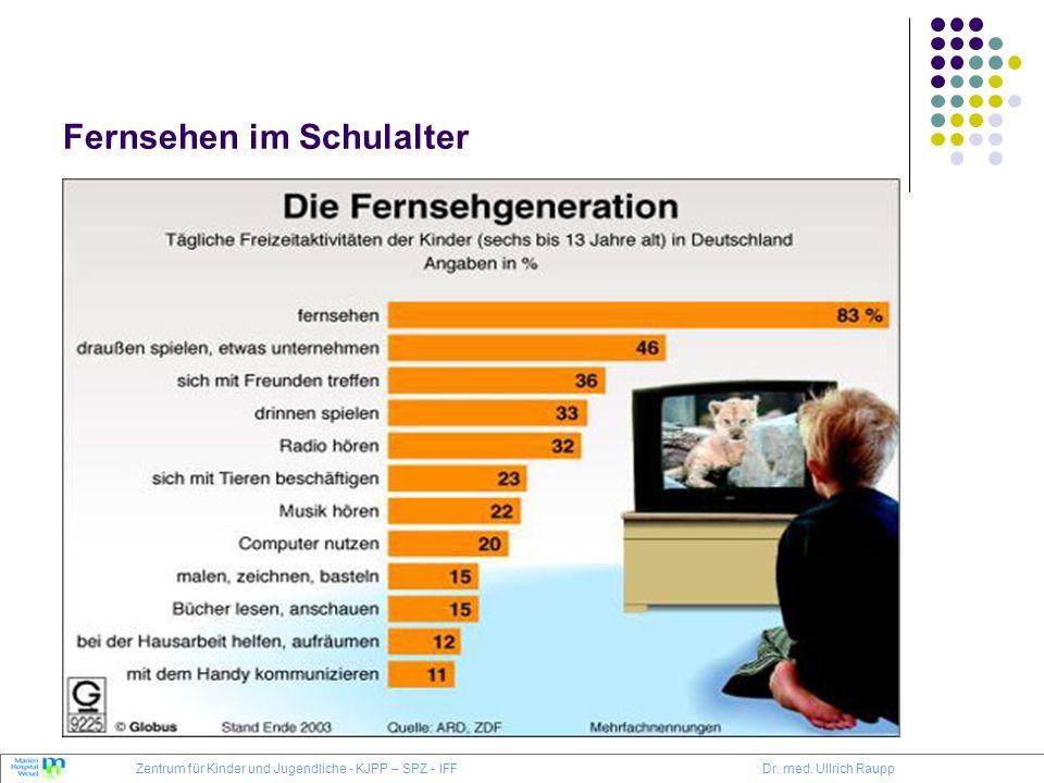 Fernsehen im Schulalter Zentrum für Kinder und Jugendliche - KJPP – SPZ - IFFDr. med. Ullrich Raupp