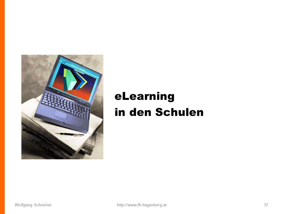 Wolfgang Schreinerhttp://www.fh-hagenberg.at37 eLearning in den Schulen