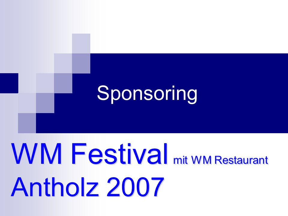 Sponsoring WM Festival mit WM Restaurant Antholz 2007