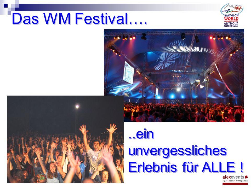 Das WM Festival…...ein unvergessliches Erlebnis für ALLE !