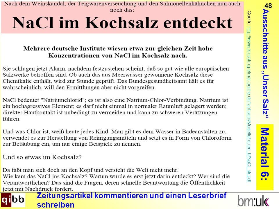 48 Material 6: Quelle: http://www.kiessling-elmar-online.de/fachsem/Modelle/Ionen_b/NaCl_sk.pdfhttp://www.kiessling-elmar-online.de/fachsem/Modelle/Io