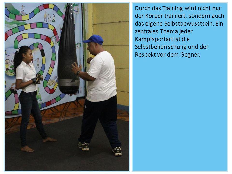 Durch das Training wird nicht nur der Körper trainiert, sondern auch das eigene Selbstbewusstsein. Ein zentrales Thema jeder Kampfsportart ist die Sel