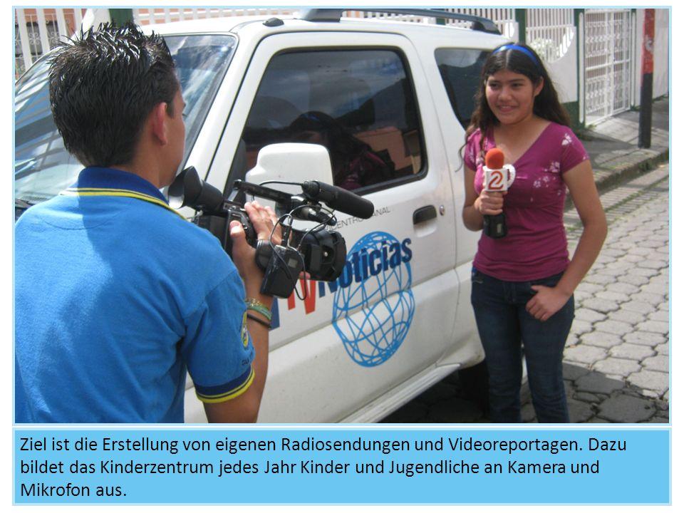 Ziel ist die Erstellung von eigenen Radiosendungen und Videoreportagen. Dazu bildet das Kinderzentrum jedes Jahr Kinder und Jugendliche an Kamera und
