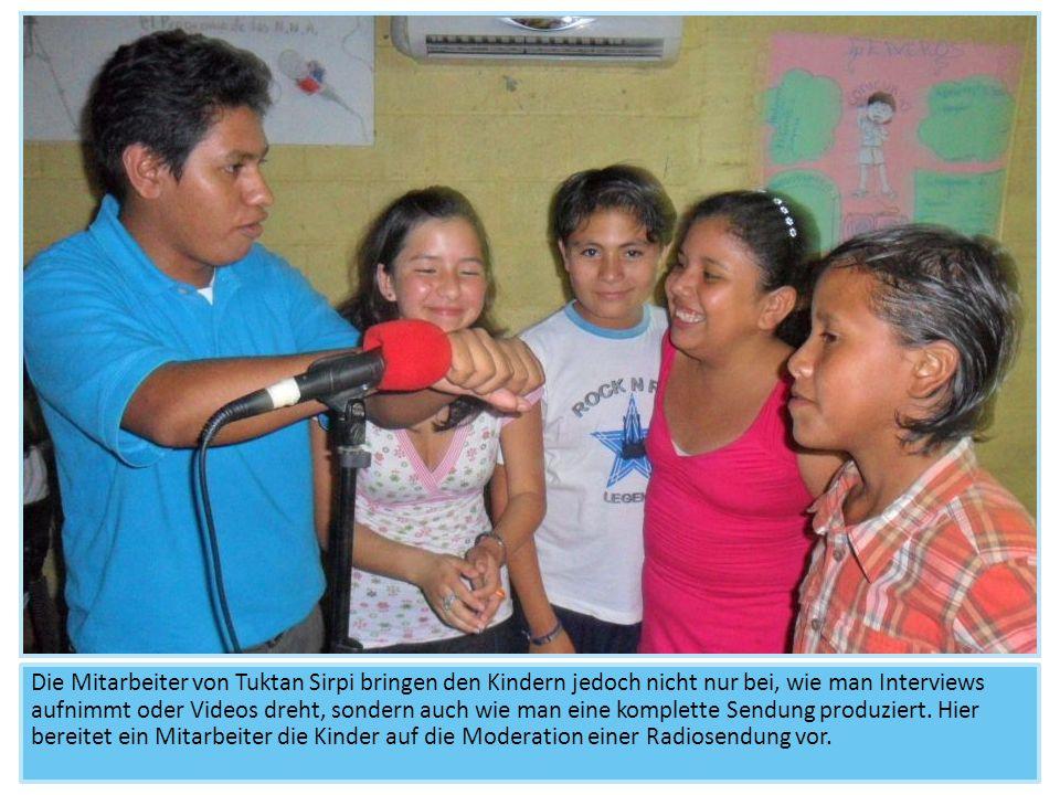 Die Mitarbeiter von Tuktan Sirpi bringen den Kindern jedoch nicht nur bei, wie man Interviews aufnimmt oder Videos dreht, sondern auch wie man eine ko