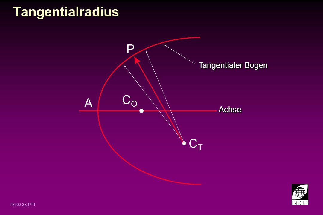 98900-3S.PPT P A Tangentialer Bogen COCO CTCT Tangentialradius Achse