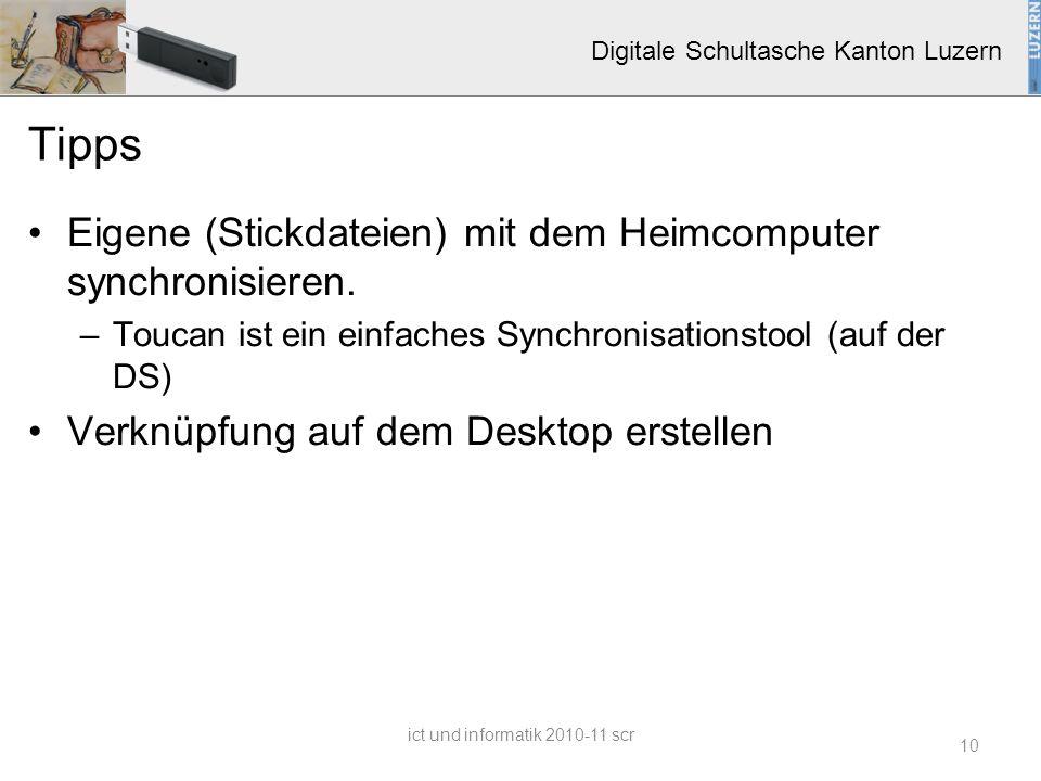 Digitale Schultasche Kanton Luzern Tipps Eigene (Stickdateien) mit dem Heimcomputer synchronisieren. –Toucan ist ein einfaches Synchronisationstool (a