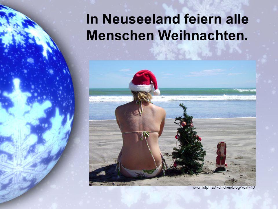 In Neuseeland feiern alle Menschen Weihnachten. www.fstph.at/~chicken/blog/?cat=43