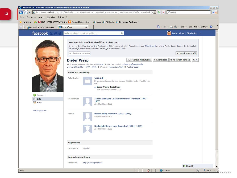 Social Media IG Metall Onlinemedien 12