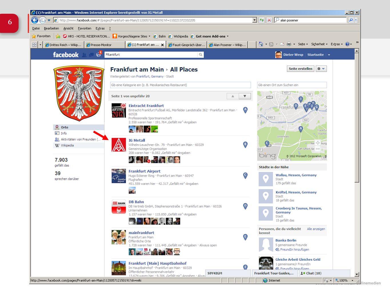 Social Media IG Metall Onlinemedien 17